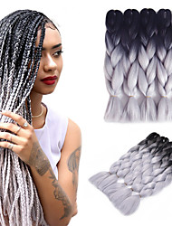 cheap -Braiding Hair Jumbo Synthetic Hair 5pcs Hair Braids Ombre Braiding Hair