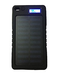 cheap -LCD-8000 8000mAh LCD 5V1A Waterproof Power Bank with Solar Recharger for Mobile Phone