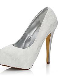 abordables -Femme-Mariage Extérieure Bureau & Travail Habillé Soirée & Evénement-Ivoire-Talon Aiguille-Confort club de Chaussures-Chaussures de