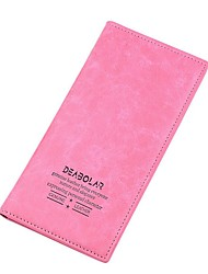 Women PU Casual Office & Career Shopping Checkbook Wallet All Seasons