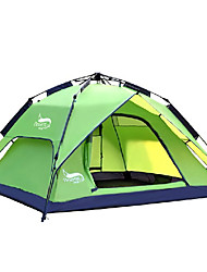 DesertFox® 3-4 persons Tent Double Camping Tent One Room Automatic Tent Waterproof Rain-Proof for Camping 2000-3000 mm Oxford-180*210*118