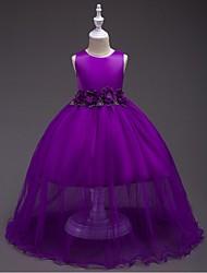 abordables -vestido de bola vestido de la muchacha de flor - organza cuello de la joya sin mangas con la flor de ydn