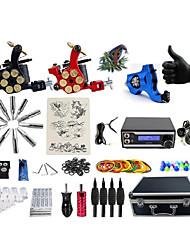 baratos -BaseKey Máquina de tatuagem Kit de tatuagem profissional - 3 pcs máquinas de tatuagem Fonte de Alimentação LED Capa Inclusa 1xMáquina Tatuagem rotativa para linhas e sombras / 2 x máquina de tatuagem