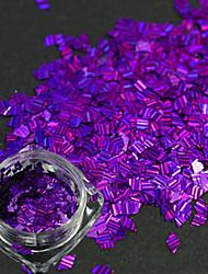 1 bouteille nouvelle mode ongle art diy beauté paillettes éblouissante paillette décoration design romantique sombre pourpre rhombus laser