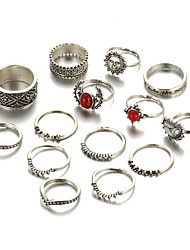 cheap -Women's Ring - Alloy Unique Design, Vintage, Fashion One Size Silver For Wedding / Party / Daily