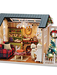 cheap -Music Box Dollhouse Toys DIY House Wood Pieces Unisex Gift