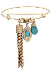 Men's Women's Charm Bracelet Jewelry Friendship Stretch DIY Turkish Gothic Fashion Vintage Bohemian Punk Hip-Hop Rock Alloy Wings /