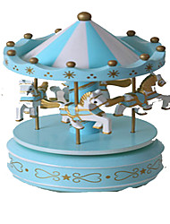 cheap -Music Box Toys Cute Lighting Circular Carousel Merry Go Round Plastic Pieces Kid's Girls' Gift