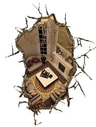 economico -Architettura Natura morta 3D Adesivi murali Adesivi 3D da parete Adesivi decorativi da parete,Vinile Materiale Decorazioni per la casa