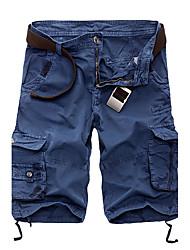 Da uomo A vita medio-alta Semplice Attivo Media elasticità Chino Pantaloni della tuta Pantaloni,Largo Monocolore Righe Collage