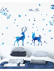 cheap -Blue Stars Deer Nordic Modern Living Room Bedroom TV Setting Porch Is decorated Wall Stickers