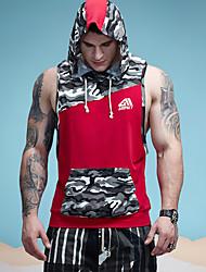 cheap -Men's Sports Active Cotton Tank Top - Color Block Patchwork Camouflage