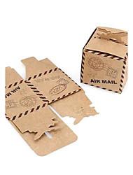 Недорогие -Креатив Кубик Картон Фавор держатель с Узор Коробочки Мешочки Сувенирные шкатулки Конус для сувениров Пакеты для печенья Подарочные