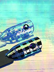 1pcs moda brilhando decoração azul nova unha arte linha do arco-íris adesivo design bela cor para a beleza diy arte do prego 4