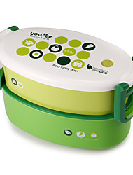 cheap -Dinner Set Double Layer Container Bento Lunch Box for Kids