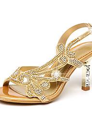 economico -Per donna Scarpe Microfibra Estate Autunno Comoda Innovativo Club Shoes Sandali Footing A stiletto Occhio di pernice Con diamantini