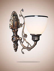 Simple American Wall Lamp Bedside Lamp Living Room Decorative Lamp Wrought Iron  European Style Creative Wall Lamp