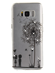 cheap -For Samsung Galaxy S8 S8 Plus S7 S7 edge Case Cover Dandelion Pattern HD Painted Drill TPU Material IMD Process High Penetration Phone Case