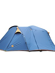 cheap -CAMEL 3-4 persons Tent Double Camping Tent Two Rooms for Hiking Camping Traveling CM