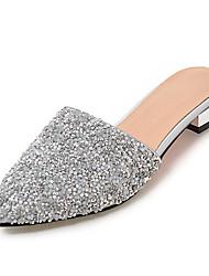 Da donna Pantofole e infradito Sandali Con cinghia Sintetico Estate Autunno Formale Casual Lustrini Basso Bianco Argento Meno di 2,5 cm