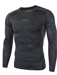 Per uomo T-shirt da corsa Manica lunga Asciugatura rapida Traspirante Comodo T-shirt Top per Esercizi di fitness Corse Attività