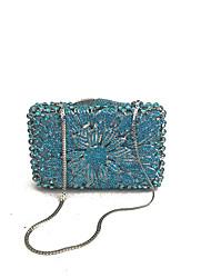 economico -Donna Sacchetti PU (Poliuretano) Metallo Pochette Crystal / Rhinestone per Matrimonio Serata/evento Formale Per tutte le stagioni Blu