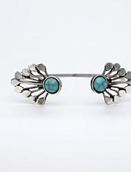 Femme Manchettes Bracelets Mode Alliage Argent Bijoux Pour Soirée 1 pièce