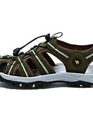 Camel Men's Outdoor Beach Sandals Summer Comfort Flat Heel Gore Light Shoes Color Green