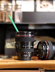 cheap -Home Use Durable DIY ABS Travel Coffee Mug Cup Water Coffee Tea Camera Lens Cup With Lid Gift