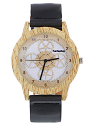 Fashion Wristwatches Mechanical Gears Leather Bamboo Wooden Watches for Men and Women Quartz Watch Christmas Gifts