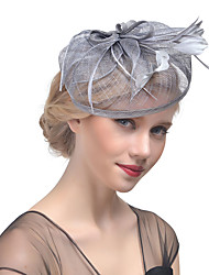 cheap -Women's Hat Solid Color Mesh Elegant Multi-ways Wear Fabric Hair Clip