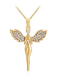 abordables -Femme Pendentif de collier - Strass Ailes d'anges Mode, euroaméricains Or Colliers Tendance Pour Mariage, Soirée, Occasion spéciale