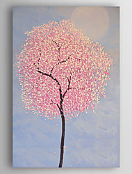Hand-Painted  Abstract Tree by Knife Flowers Oil Painting With Stretcher For Home Decoration Ready to Hang
