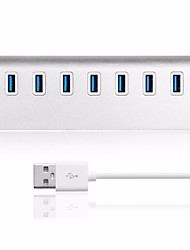USB 3.0 7 Ports/Interface USB Hub Aluminum