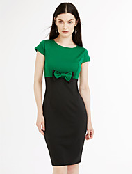 cheap -Women's Bow Plus Size / Going out Casual / Street chic A Line Dress