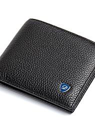 Men's Bags Cowhide Leather & Metal Crafting for Office / Career Daily Casual Formal All Seasons Black Dark Brown