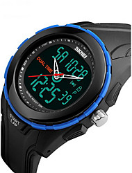 cheap -SKMEI Men's Wrist watch Sport Watch Digital Alarm Calendar / date / day Water Resistant / Water Proof Stopwatch Dual Time Zones LCD Rubber