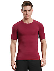 cheap -Men's Running T-Shirt Quick Dry Breathable Soft Compression Comfortable T-shirt Top for Camping / Hiking Exercise & Fitness Racing