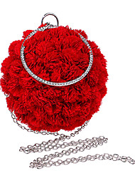 cheap -Women Evening Bag Polyester All Seasons Formal Event/Party Wedding Bowling Flower Clasp Lock Pinky Red