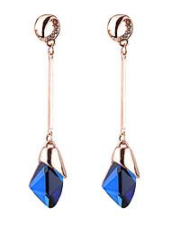 cheap -Brand Design Fashion Elegant Temperament Water Drop Gem Rhinestone Long Earrings For Women Weddings Jewelry boucle d'oreille