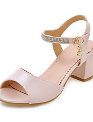 Women's Sandals Comfort D'Orsay & Two-Piece Leatherette Summer Fall Daily Dress Comfort D'Orsay & Two-Piece Rhinestone Buckle Hollow-out