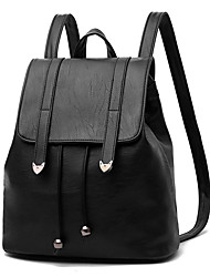 Women's Bags All Seasons PU Backpack for Office/Career Casual Black