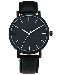 Cool Style Men Wristwatch Brief Vogue Simple Stylish Black and white Face Leather Quartz Clock Fashion Watch
