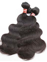 Недорогие -100% оригинальная бразильская виргинская волна волос тела 4bundles 400 г много необработанного натурального материала волос натурального