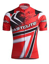Fastcute Maglia da ciclismo Per uomo Manica corta Bicicletta Maglietta/Maglia Top Asciugatura rapida Traspirante Coolmax Classico