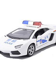 Die-Cast Vehicles Pull Back Vehicles Toy Cars Race Car Police car Toys Metal Alloy Metal Pieces Unisex Gift