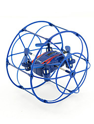RC Drone JJRC HY370 Blue 4CH 6 Axis 2.4G - RC Quadcopter LED Lighting 360°Rolling Hover RC Quadcopter Remote Controller/Transmmitter USB