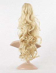 cheap -New Synthetic Women Claw on Ponytail Clip in Pony Tail Hair Extensions Curly Style Hairpiece Blonde Hair Ponytail.