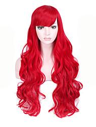 Ženy Dlouhý Červená Vlnité Umělé vlasy Bez krytky Přírodní paruka paruky