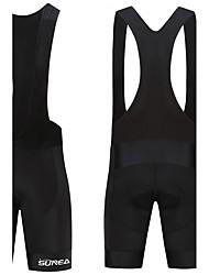 baratos -SUREA Homens Bermudas Bretelle Moto Calções Bibes / Calças Poliéster, Lycra Branco Roupa de Ciclismo / Secagem Rápida